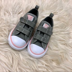 Toddler converse velcro shoes
